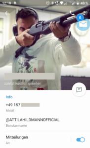Beim Schießtraining mit furchterregendem Gewehr: Attila Hildmann hat ein martialisches Profilbild bei seinem neuen Telegram-Account eingerichtet